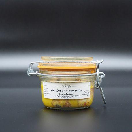 """Foie Gras de canard entier """"conserve traditionnelle"""" en verrine"""